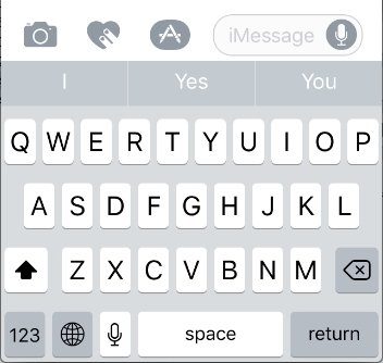 IOS keyboard on an iPhone 5