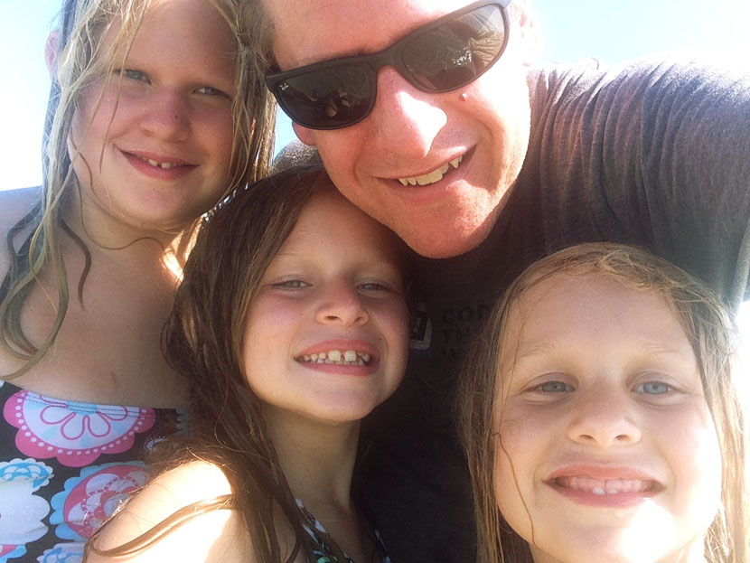 My daughters and I at the beach